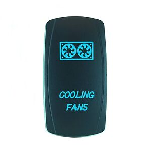 12v Waterproof On Off Cooling Fan Rocker Switch Blue For Marine Boat Car