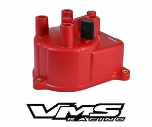 Vms Racing Red Oe Style Distributor Cap For 94 01 Acura Integra 1 8l B18 Ls Dohc