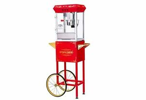 Fresh Movie Popcorn Popper Maker Machine Quiet Motor Rolling Cart Starter Kit