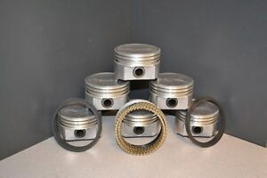Marine Ford 302 5 0l Ohv V8 Dish Top Pistons Moly Rings