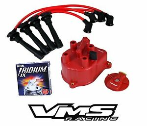 Vms Distributor Cap Rotor Wires Ngk Iridium Spark Plugs For Acura Integra Gsr