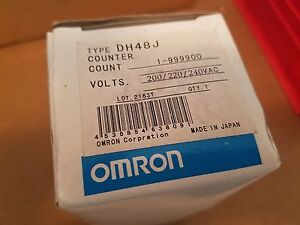 Omron Dh48j Digital Timer 200 220 240vac 5a R load 453685463809 Count 1 999900