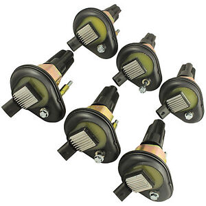 Set Of 6 Ignition Coils Fit For 2002 2005 Chevy Trailblazer Gmc Canyon Envoy H3