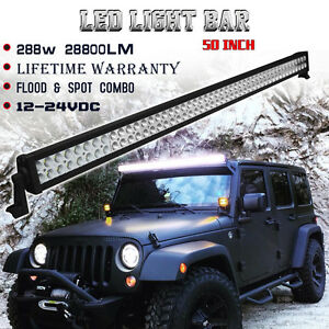 50 Inch Led Work Light Bar Combo Beam Off Road Jeep Truck Ford Suv Ute Atv 52