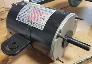 New 1 2 Hp 3 Phase Motor Vr12fc Double Flat Shaft