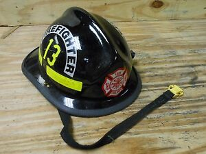 Cairns 660c Military 182d Firefighter Fire Rescue Helmet Fireman Black 13