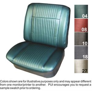 1965 Pontiac Grand Prix Parisienne Custom Sport Front Bucket Seat Covers Pui