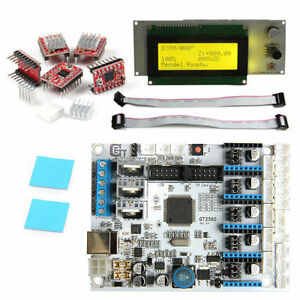 Geeetech 3d Printer Kit Gt2560 Controller Board lcd 2004 5pcs A4988 Driver New