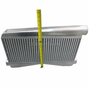 27 X16 5 X3 5 Twin Turbo Universal 2 In 1 Out Intercooler 3 5 Bigcore