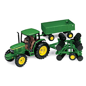 Ertl 1 32 Scale John Deere 6410 Tractor With Barge Wagon Disk 15489