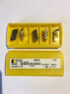 Nr3062rk Grade Kc730 Carbide Grooving Inserts New Top notch Kennametal 5pcs