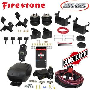Firestone Riderite Air Bags Airlift Wireless Air Compressor For 15 19 Ford F 150
