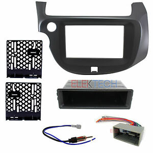 Radio Replacement Dash Install Kit 2 Din Pocket Harness Antenna For Honda