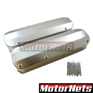 68 up Bbf Ford 429 460 Anodized Fabricated Aluminum Tall Valve Cover Long Bolts