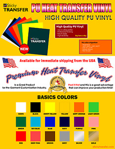 Htv Vinyl Textil Pu For T shirt 10 Sheet 12 x10 Heat Transfer Vinyl Heat Press