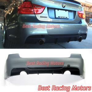 Performance Style Rear Bumper Dual Exhaust Fit 06 11 Bmw E90 4dr 3 Series 335i