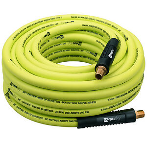 3 8 In Hybrid Air Compressor Hose 50ft With 1 4 Inch Mnpt Heavy Duty Lightweight