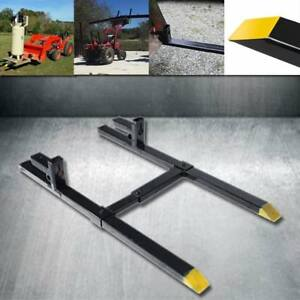 Hd Clamp On Pallet Forks 1500lb 2000lb 4000lb Capacity W Stabilizer Bar