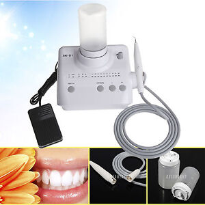 Dental Piezo Ultrasonic Scaler With 2 Water Bottles Tips Tubes Fit Dte satelec