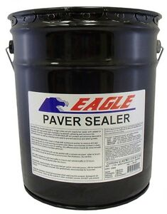 Eagle Acrylic Concrete Paver Sealer 5 Gal Clear Wet Look Solvent Based Glossy
