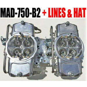 Demon Mad 750 b2 750 Cfm Gas Blower Supercharger Carbs With Lines And Demon Hat