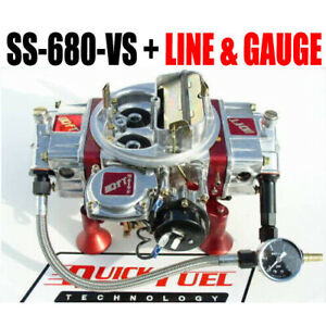 Quick Fuel Ss 680 Vs Cfm Gas Vacuum With Choke Gauge Kit Line Kit Gauge