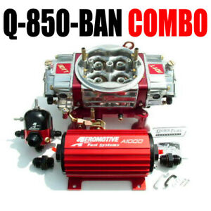 Quick Fuel Q 850 ban Blow Thru Carb Aeromotive 11101 Pump Reg 13204 Package