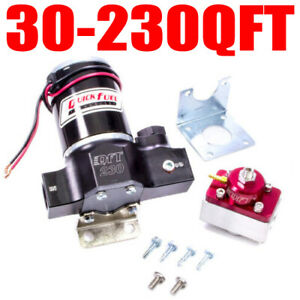 Quick Fuel 30 230 230 Electric Fuel Pump Alcohol E 85 Gas With Bypass Regulator