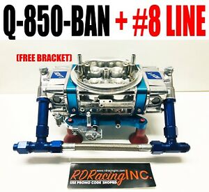 Quick Fuel Q 850 Ban 850 Annular Mech Gas Blow Thru Blue W Free Csr 630b Bracket
