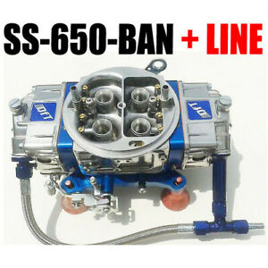 Quick Fuel Ss 650 ban Mech Blow Thru Annular Blue With 6 Fuel Line Kit