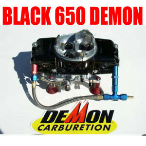 Speed Demon 650 Barry Grant Powder Coat Black 1282010 With 6 Fuel Line
