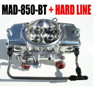 850 Cfm Mighty Demon Annular Blow Thru Carb Mad 850 bt W 6 Black Hard Line Kit