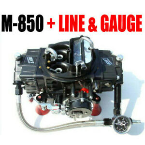 Quick Fuel M 850 Mech Gas Electric Choke Marine With J tubes And Line Kit Look