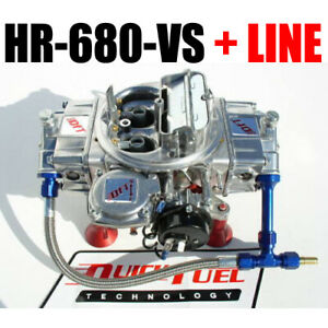 Quick Fuel Hr 680 Vs Hot Rod Gas Vacuum Carburetor With Blue Line Kit New