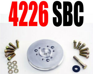 Blower Shop 4226 1 V Accessory Small Block Chevy Pulley With Bolts