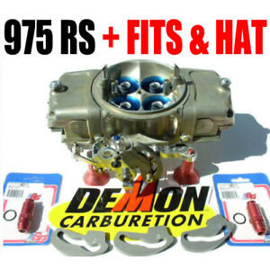 Race Demon 3503010tm 975 Rs 0val Track Master Gas Barry Grant Carb Hat