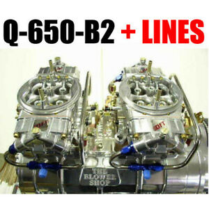 Quick Fuel Q 650 b2 650 Cfm Clear Blower Supercharger Carbs With Lines New