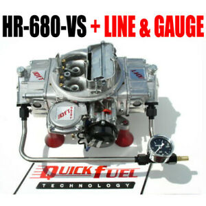 Quick Fuel Hr 680 Vs Technology Hot Rod Gas 680 Cfm Vacuum Hard Line With Gauge