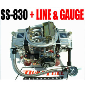 Quick Fuel Ss 830 830 Cfm Gas Black Mechanical Sec Carb 6 Gauge Line Kit Black