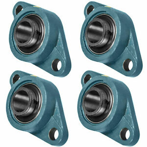 4 Pcs Ucfl202 10 Self align 2 Bolt Flange Pillow Block Bearing 5 8 Inch