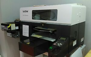 Direct To Garment Brother Gt 381 Printer Exc Cond print Quality