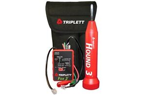 Triplett 3399 Cable Tracer Fox And Hound Wire Tracing Kit W Carrying Case
