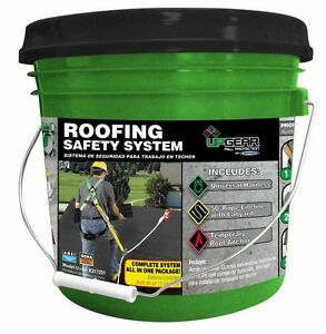 Roof Safety System Universal Harness Roofing Fall Protection Bucket 50 Lifeline