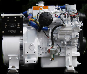 7 Kw Diesel Marine Generator Kubota Heat Exchange Cooling Ignition Protection