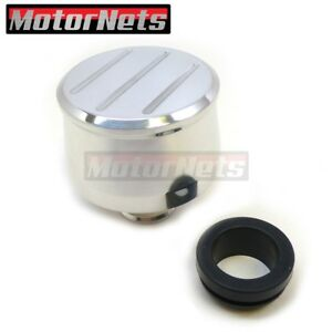 Billet Polished Aluminum Push In Valve Cover Breather Round Ball Milled Chevy