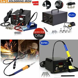 937d 853d 852d Soldering Rework Soldering Station Solder Iron Smd Hot Air Gun