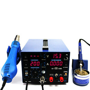 853d 3in1 Table Power Station Desoldering Machine Soldering Hot Air Welder