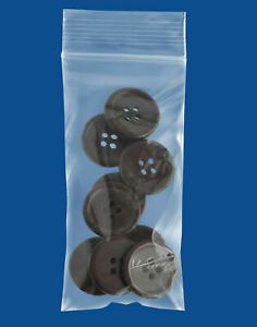 Small Zipper Seal Zip Lock Top Reclosable Poly Plastic Bags 2x4 2x5 2 Mil Thick