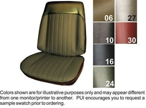 1969 Pontiac Grand Prix Front Bucket Seat Covers Pui