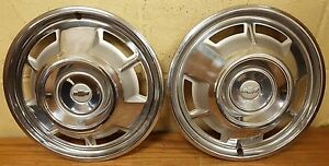 1967 Chevy Camaro 14 Wheel Covers Hubcaps 3001 Nos Set Of 2